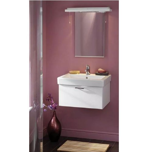 Eastbrook Sorrento Wall Hung Vanity Unit - 560mm Wide - High Gloss White